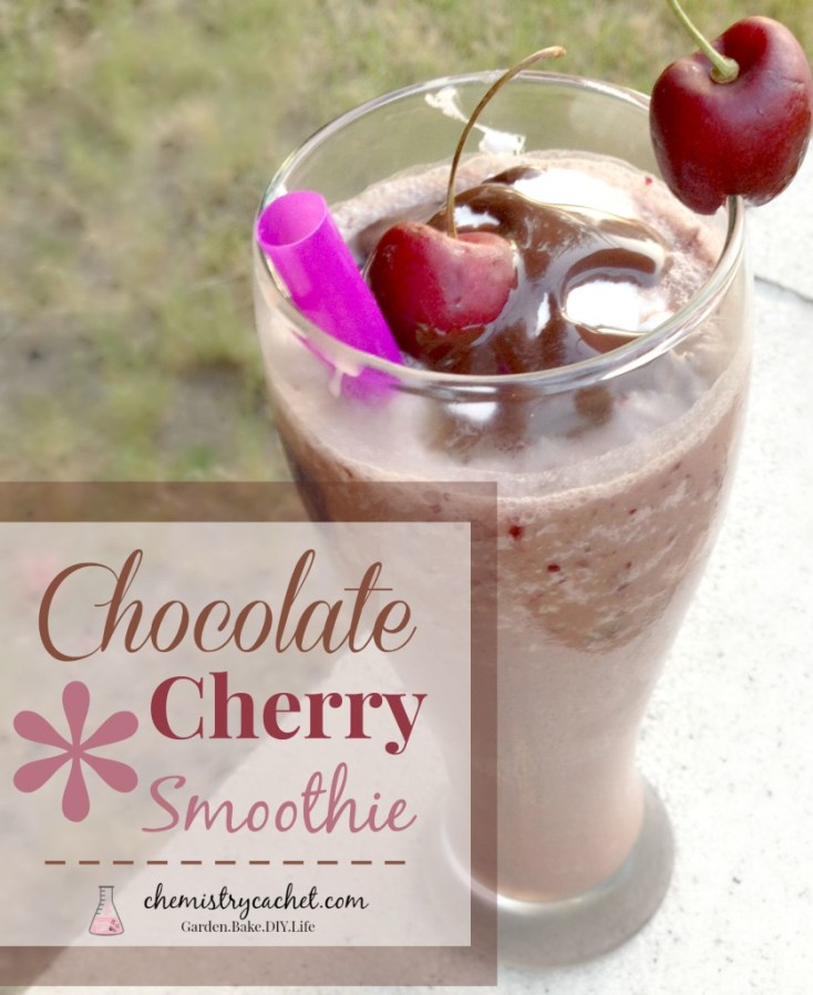 Chocolate Covered Cherry Smoothie, perfect for an early morning or delicious afternoon treat! chemistrycachet.com