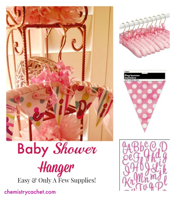 Cute DIY Personalized Hanger for Baby Shower. Only a few supplies needed and very easy! chemistrycachet.com