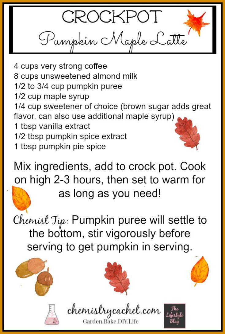 Pumpkin Maple Latte Free Printable! Perfect for a party