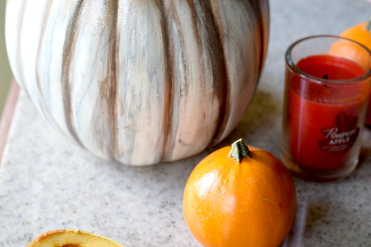 DIY Cheap Shabby Chic Pumpkin Tuturial. Transform anny dollar store pumpkin into a chic pumpkin for fall on chemistrycachet.com