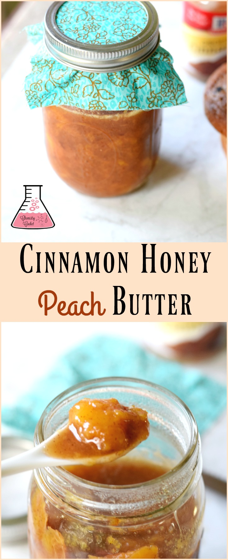 Cinnamon Honey Peach Butter Recipe. Use up all those peaches with this delicious peach butter recipe on chemistrycachet.com