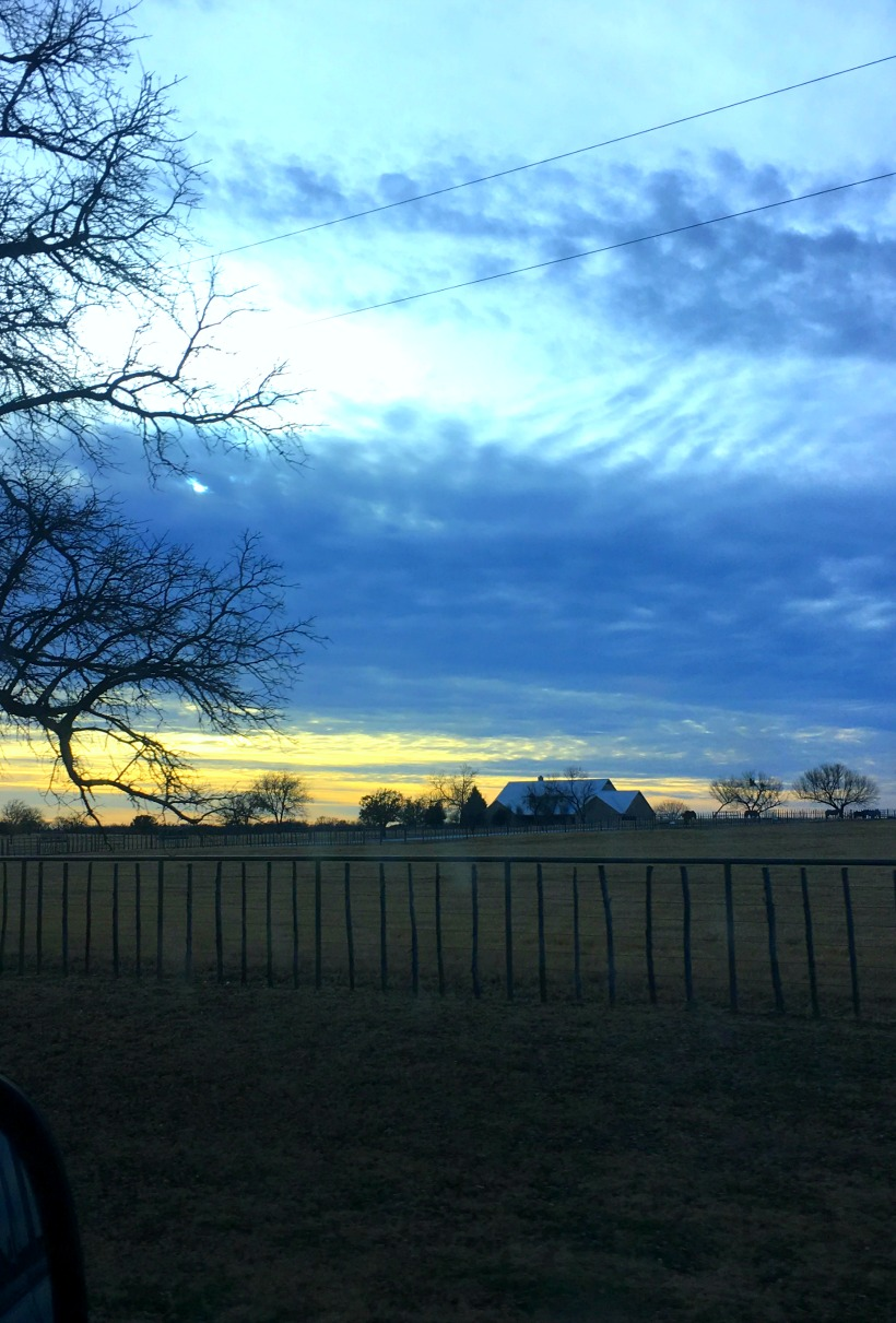 Winter Sky in the Texas Countryside on chemistrycachet.com