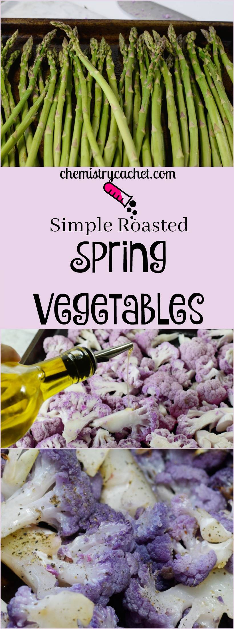 Simple Roasted Spring Vegetables. Spring Vegetable Recipe on chemistrycachet.com