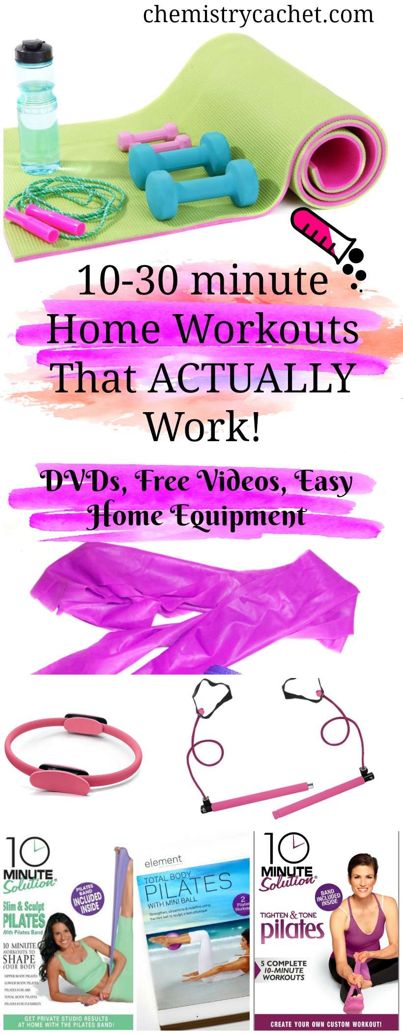 10-30 minute home workouts that actually work! Home workout videos, dvds, and easy to use equipment even for those who have physical limitations on chemistrycachet.com