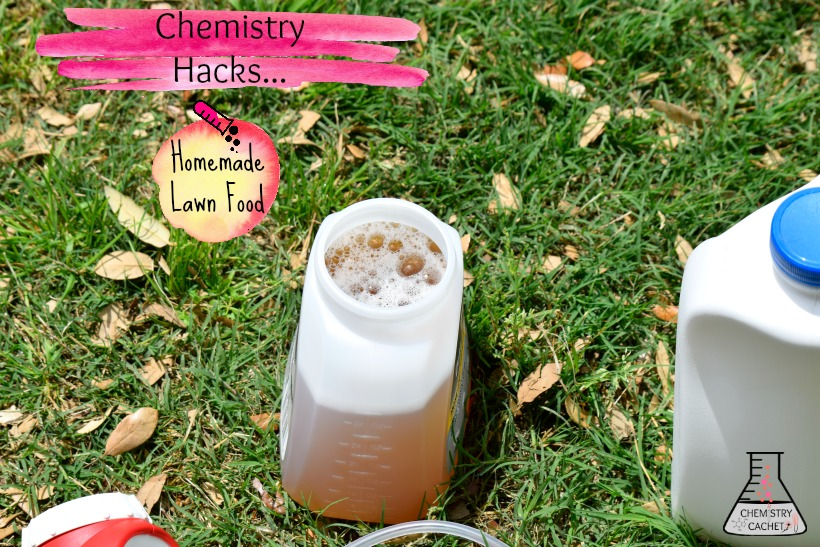 Another fantastic chemistry hack homemade lawn food. Easy, cheap and effective! Full tutorial