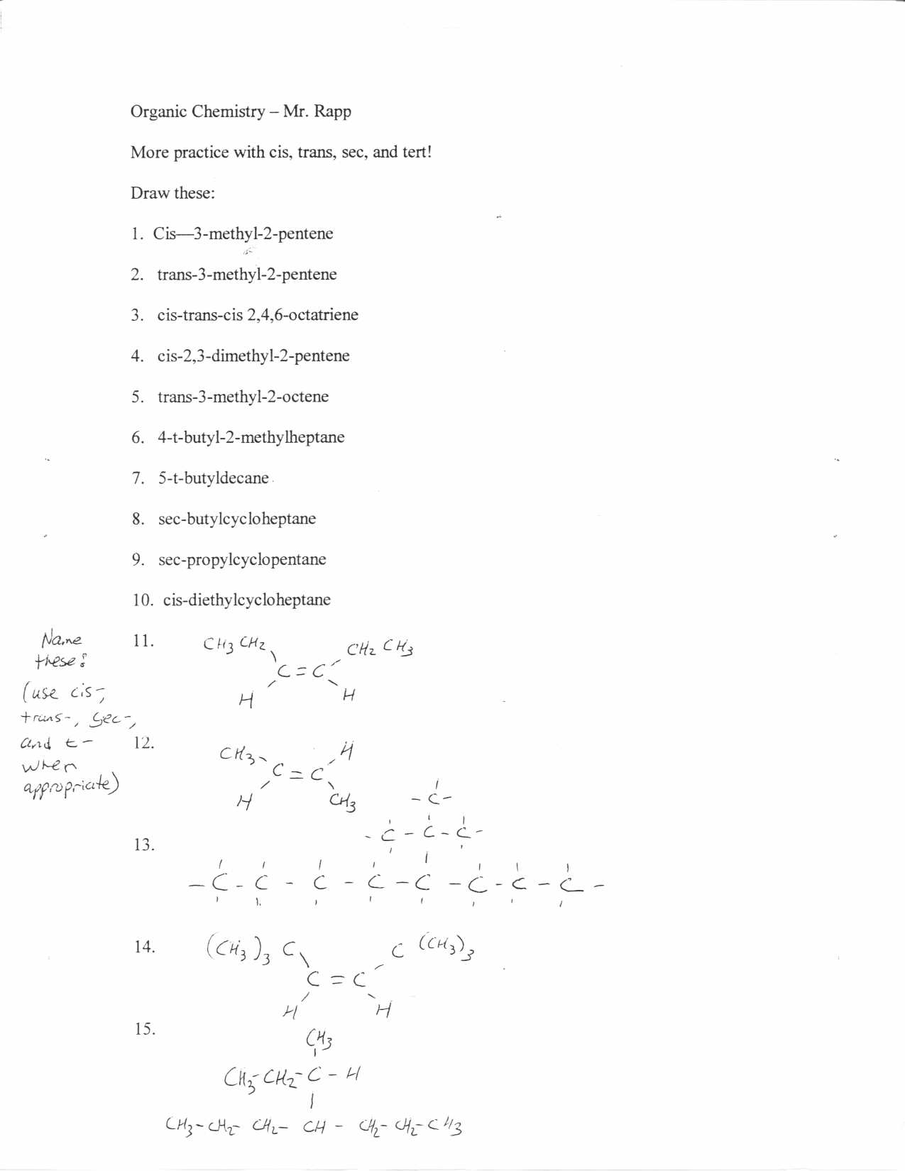 30 Organic Chemistry Basics Worksheet Answers