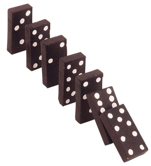 Cascading dominoes