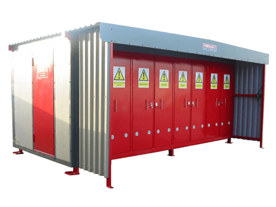 Firevault manufactured with multi storage rooms for materials with various CLP hazards