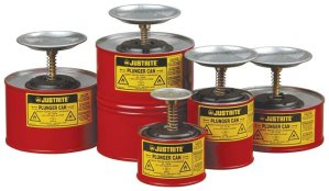 Justrite Safety Can Plunger Cans Feature Image