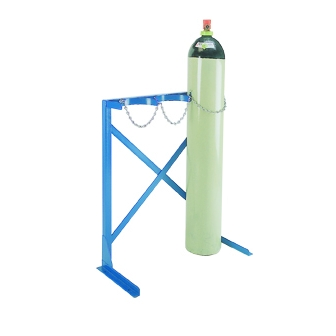 Two Cylinder Steel Rack Free Standing