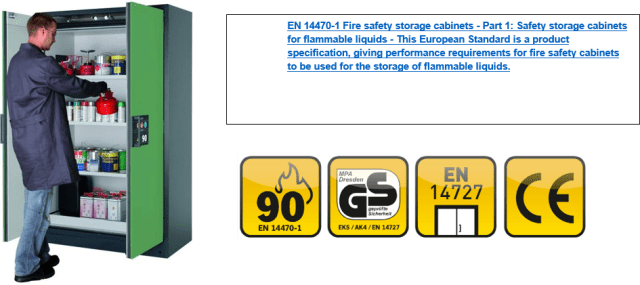 Q90 EN14470-1 Certified Fire Rated Cabinet