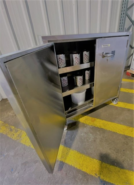 Stainless Steel Bunded Cabinet Open 316L