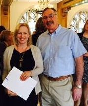 County Chair Jim Carr with Kirsten Gillibrand
