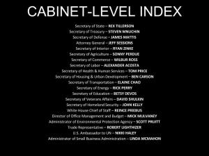 Trump Cabinet Index