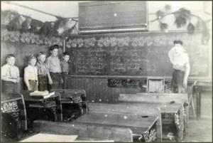 Tyler School classroom circa 1943 - Gift of Carol Betz