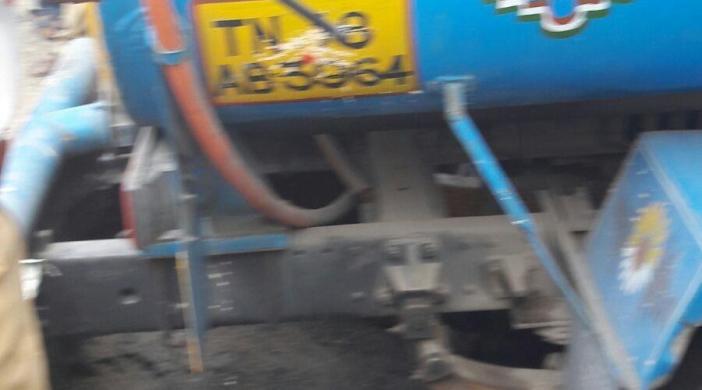 Road caved in at T.Nagar