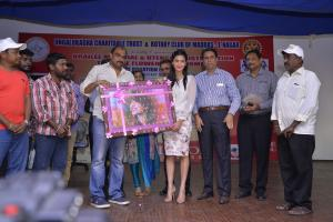 Actress Shruti Haasan spend around one hour with the inmates of Little Flower Home for Blinds