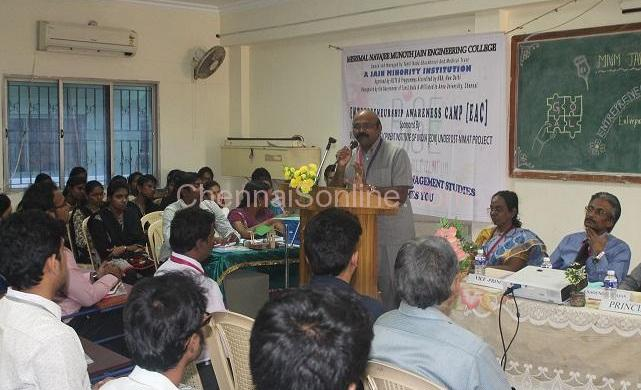 Inaugural Function of Entrepreneurship Awareness Camp (EAC) on 17th Feb.2016 at MNM Jain Engineering College organized by the Department of Management