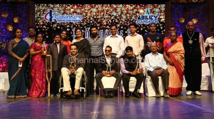 Group Photo vikram CavinKare Ability Awards 2016
