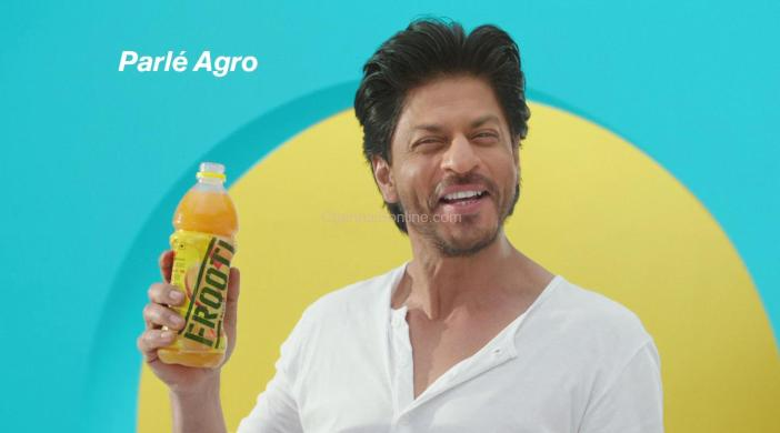 Parle Agro- Frooti has launched its new television campaign featuring the King of Bollywood Shah Rukh Khan.