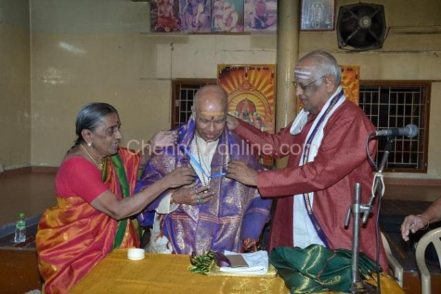 """ Sangeetha Vidwan P.S Narayanaswamy conferred"