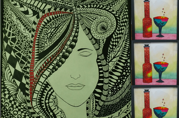 Zentangle & Broken Glass PAINTING WORKSHOP