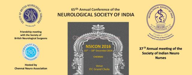 The 65th Annual Conference of the Neurological Society of India will be held in Chennai