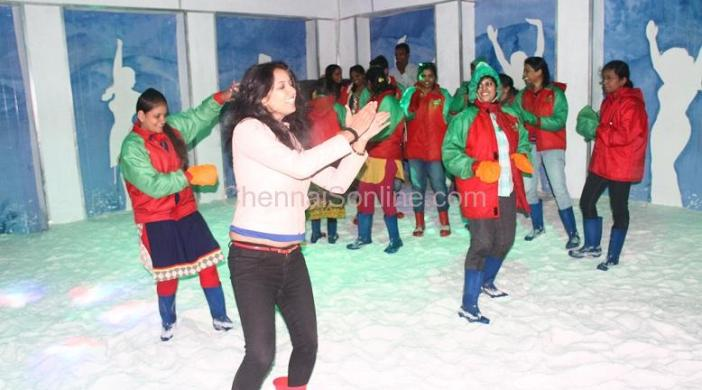 ZUMBA was performed over snow