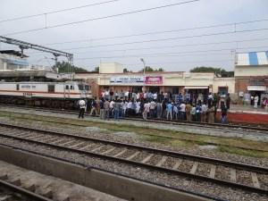 Katpadi Railway Station Protest
