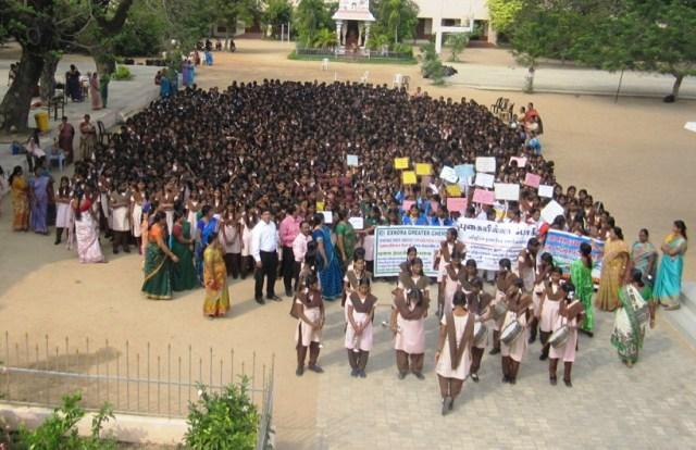 Awareness Program and  Students Rally on Smoke free Bhogi
