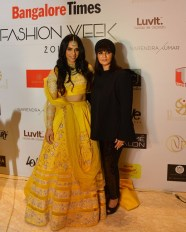 Saina Nehwal & Neeta Lulla at Bangalore Times Fashion Week at JW Marriott on 08th Oct 2017_2