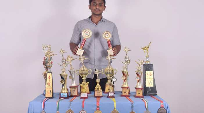 V.THARUN BAGS HANDFUL OF GOLD MEDALS in STATE and NATIONAL LEVEL KARATE CHAMPIONSHIPS