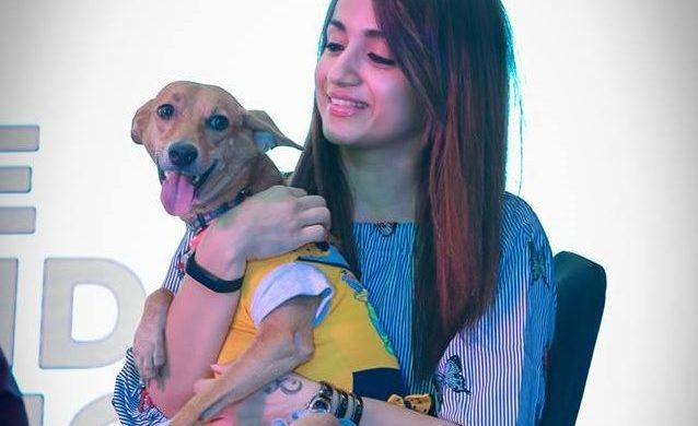 Trisha_with_Indian_dog