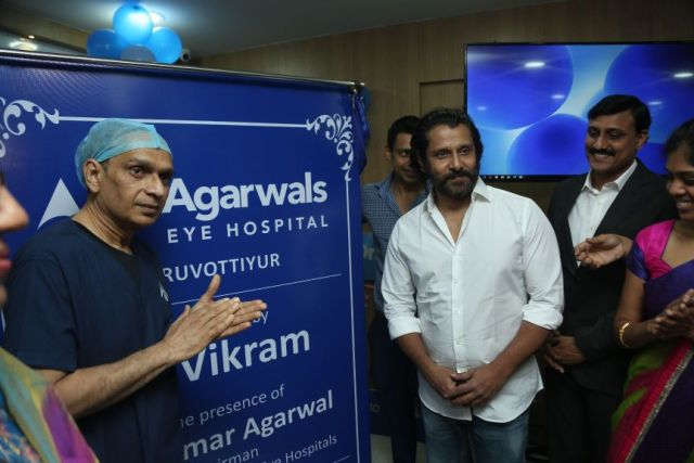 Actor Vikram agarwal eye hospital