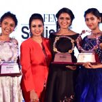 Spoorthi Vishwas with Winners of Femina Stylista South 2020 in Bengaluru