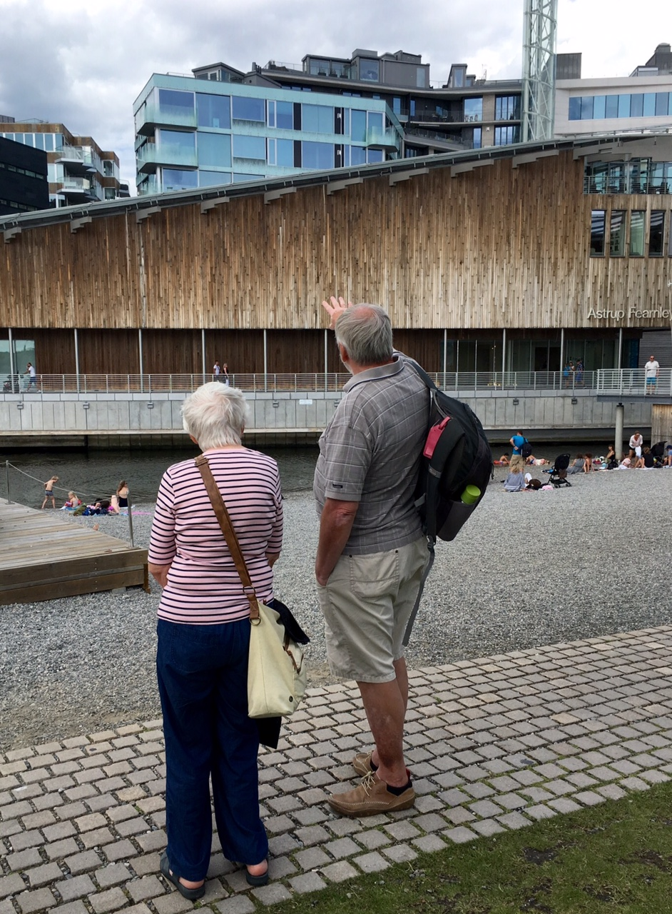 Sightseeing at the new museum of modern art in central Oslo