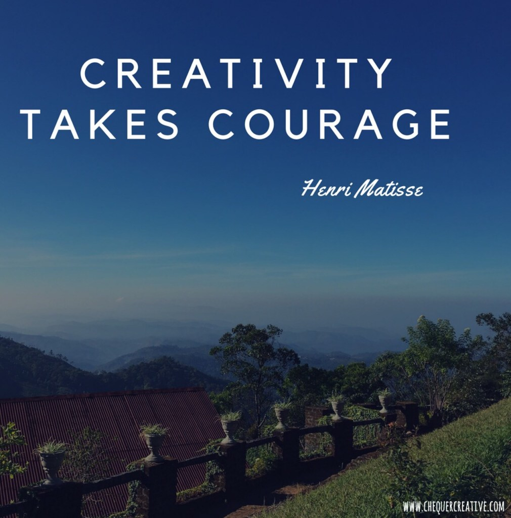 inspirational quote about creativity from artist Henri Matisse photo Munnar Tamil Nadu India