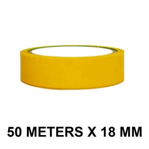 "Yellow Color Tape - 18mm / 0.75"" Width - 50 Meters in Length"