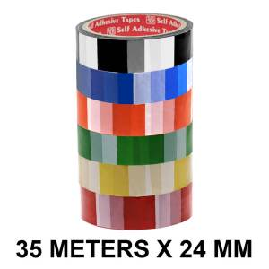Checker Printed Tape - 24mm / 01″ Width – 35 Meters Length