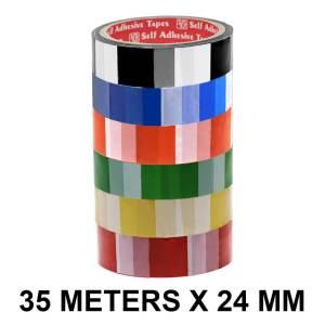 Checker Printed Tape - 24mm / 01″ Width – 35 Meters Length
