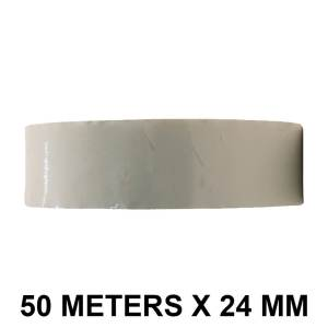 """White Color Tape - 24mm / 1"""" Width - 50 Meters in Length"""
