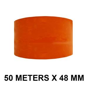 """Orange Color Tape - 48mm / 2"""" Width - 50 Meters in Length"""