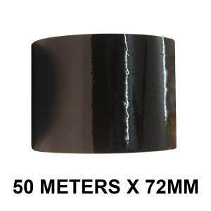 """Black Color Tape - 72mm / 3"""" Width"""