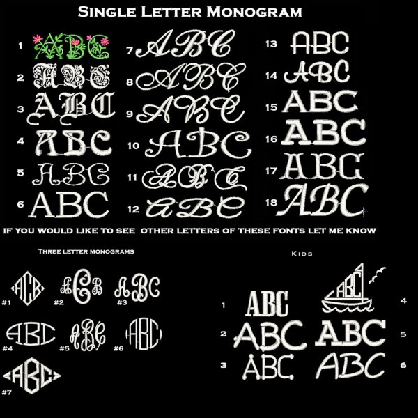 Monogram Font Samples