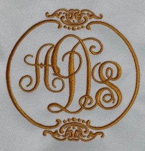 Embroidered Linen Monogram