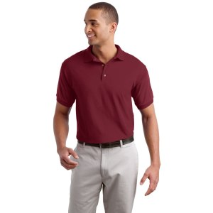 sport wicking polo knit