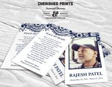 Indian Block Print Prayer Card