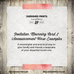 Invitation Mourning Card Announcement Wording Examples