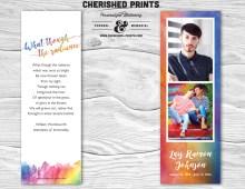 Orlando Strong LBGTQ Rainbow Funeral Bookmark