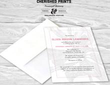 Magnolia Announcement, Invitation, Mourning Card